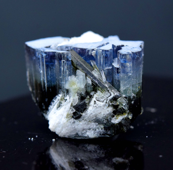 10 Gram Terminated Complete Blue Cap Tourmaline Crystal With Feldspar From Paproke Afghanistan - 24*15*18 mm