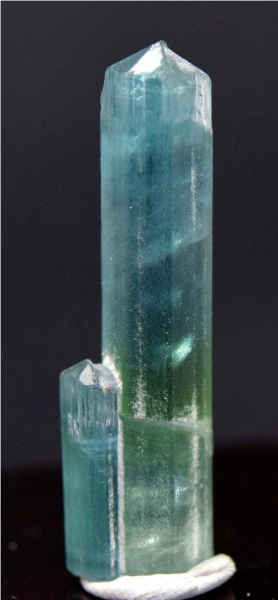 MP03-137 , 25.05 Cts Terminated & Undamaged Paraiba Blue And Green Tourmaline Natural Crystal From Paproke Afghanistan - 36*10*08 mm