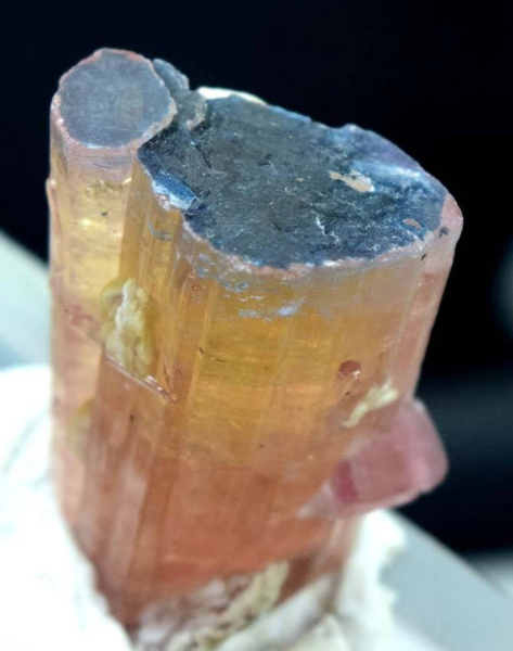 MP03-98 , 17 Gram Unique Blue Cap Terminated Orange Color Tourmaline Crystal from Paprok Afghanistan ~ 30*20*14mm