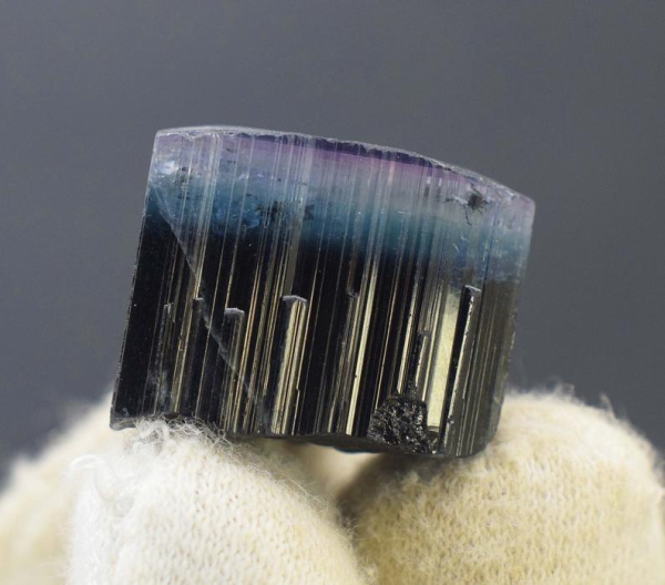 Tourmaline, Terminated pruple & Blue Cap Twin Tourmaline Crystal -15 Gram- 20*17*19 mm