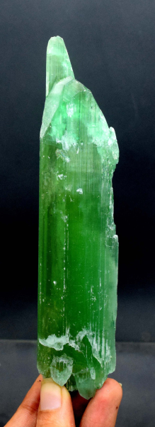 Kunzite Crystal , V-Shape Terminated & Undamaged Lush Green Color with Excellent Clarity ~ 118 Gram - 145*32*16 mm