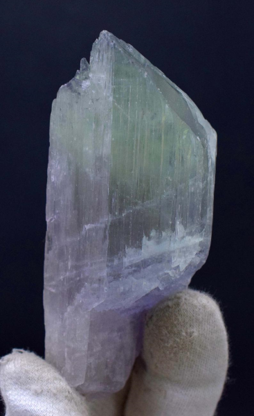 221 Gram V-Shape Terminated Bi-Color Kunzite Natural Crystal from Afghanistan - 101*41*37 mm