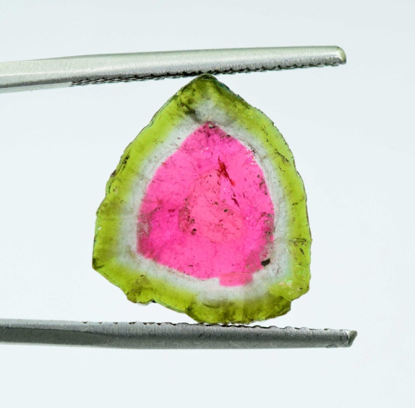 Natural Watermelon Tourmaline Slice 10.20 cts- 16*14*04 mm