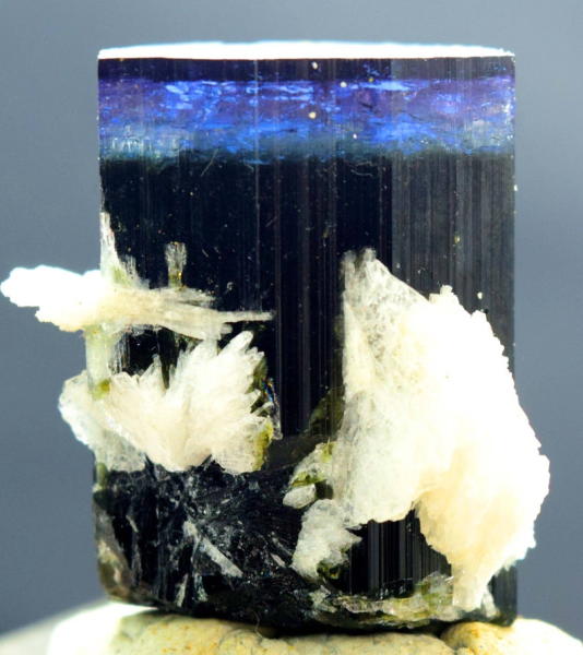 MP01-269 38 Gram Blue Cap Tourmaline with Cleavlandite Albite from Paproke Afghanistan