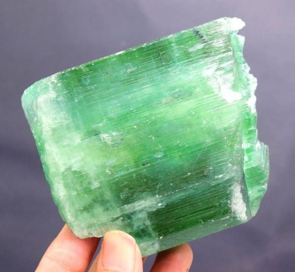 MP08-48 , 321 Gram Undamaged Green Color Kunzite Hiddenite Crystal ~ Collectible ~ 80*78*25 mm