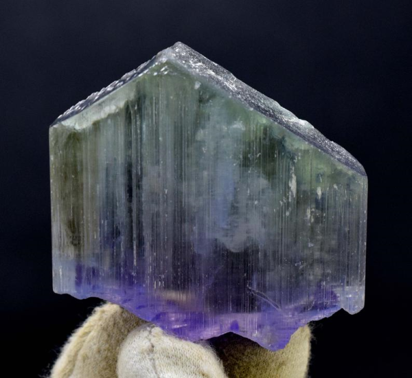 114 Gram V Shape Terminated & Undamaged Bi Color Natural Kunzite Crystal from Afghanistan - 61*59*15 mm