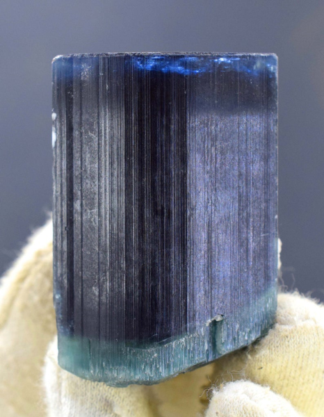 100 Gram Double Terminated Blue And Green Cap Tourmaline from Paprok - 85*34*33 mm