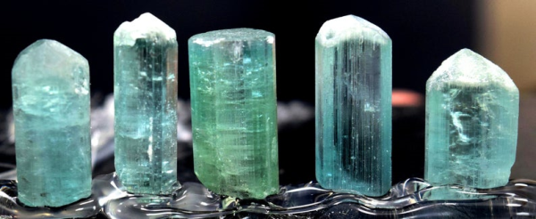 Tourmaline Crystals , Terminated paraiba color Lot from Afghanistan - 44.85 carats - 16*8*7 mm