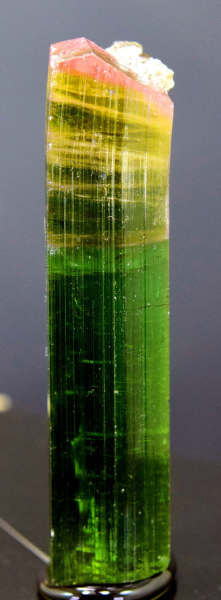 MP01-159 54.50 Carats Terminated & Undamaged Bi-Color Tourmaline Gem Grade Crystal @ Paprok - 44*12*09 mm