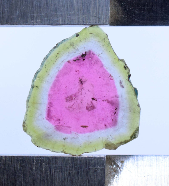MP02-345 , 6.30 carats Watermelon Tourmaline Slice from Paprok Afghanistan - 16*14*02 mm