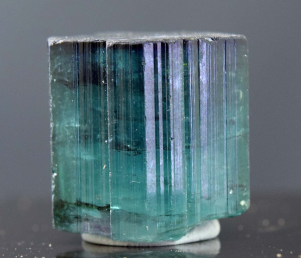 MP01-265 69.85 carats Terminated & Undamaged Indicolite Blue Tourmaline Crystal from Paproke Afghanistan - 19*19*17 mm