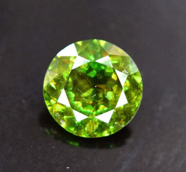 1.80 carats Full Fire Natural Chrome Sphene from Skardu Pakistan - 8*8*4 mm
