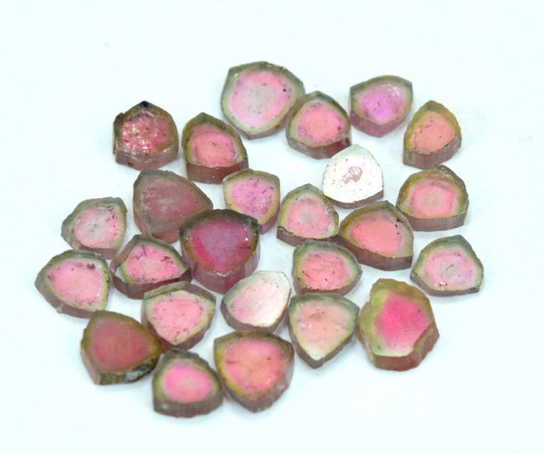 Tourmaline Slices Lot from Paprok 34.60 Carats- 8*8*4 mm