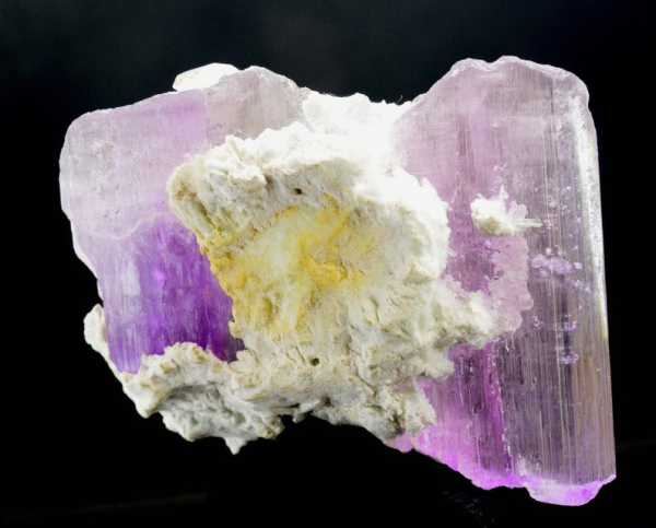 Natural Kunzite with Tourmaline Spray and Unknown Mineral - 150 Gram - 77*61*33 mm