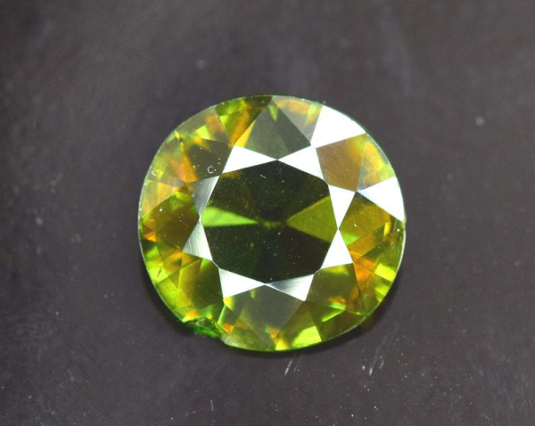 2.05 carats AAA Color Full Fire Natural Chrome Sphene from Skardu Pakistan - 9*9*3 mm