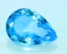 Natural Electric Blue Topaz Gemstone - 35.20 Carats - 24*17*11 mm