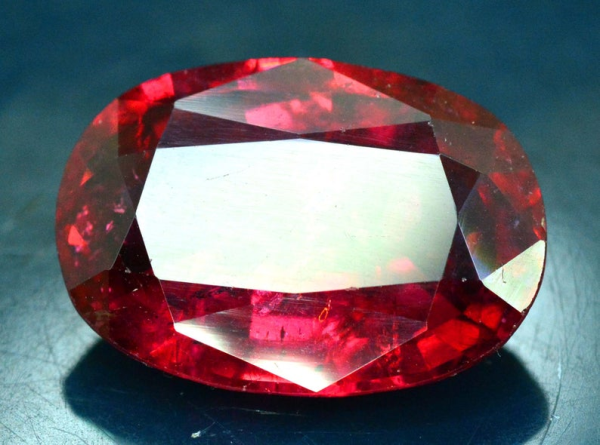 12.80 cts Oval Cut Natural Untreated Rubelite Tourmaline ~ 18 x 12 x 7mm