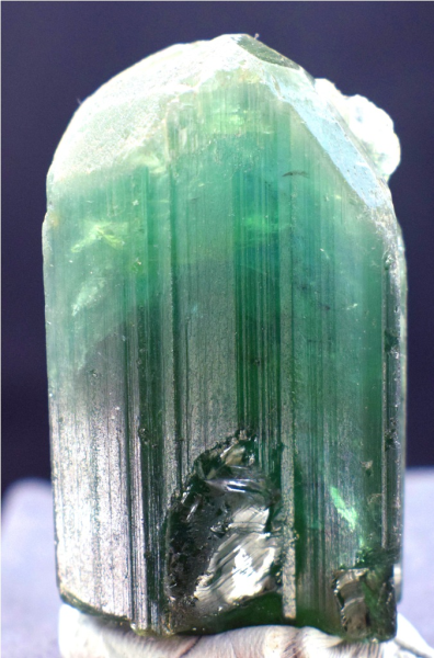 MP03-108 - 53 Gram Terminated & Undamaged Blue Green Tourmaline Natural Crystal From Paproke Afghanistan - 47*27*23 mm