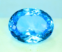 Natural Swiss Blue Topaz Loose Gemstone - 39.10 Carats - 22*17*12 mm