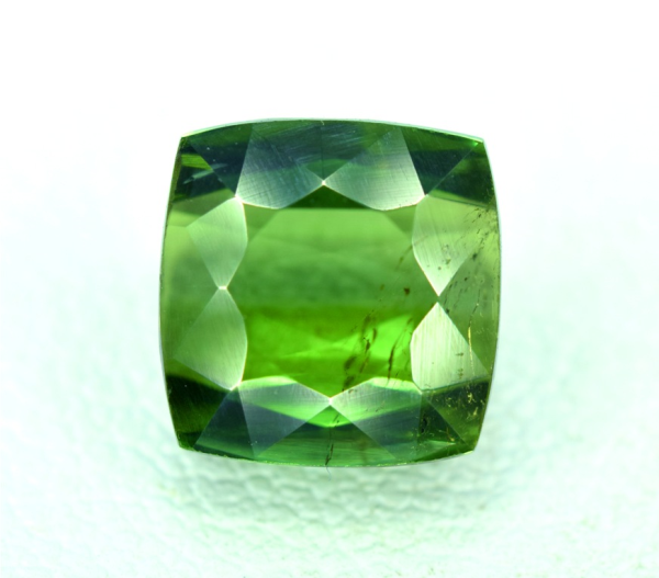 Natural Green Color Tourmaline Gemstone from Afghanistan - 7*7*4 mm 2.60 carats