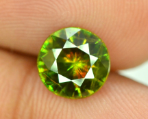 1.55 cts Full Fire Natural Chrome Sphene Titanite from Skardu Pakistan - 06*06*03 mm