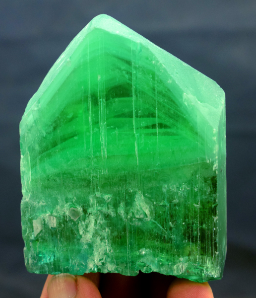 184 Gram V Shape Terminated Lush Green Kunzite Hiddenite Crystal - 73*54*18 mm