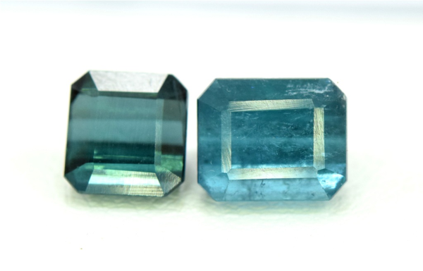 Blue Tourmaline Gemstones Pair , Indicolite Tourmalines from Afghanistan - 2.90 carats