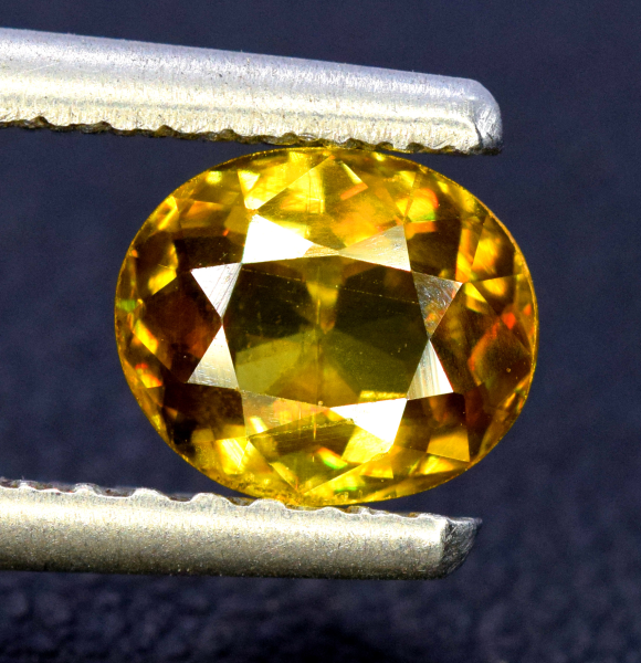 Sphene Gemstone , Titanite Sphene Cut Stone , Sphene Stone  - 1.65 cts , 07*06*04 mm