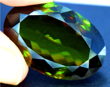 Sphene Gemstone , Sphene Titanite Gemstone , Chrome Sphene Gemstone - 27.30 cts , 25*16*07 mm