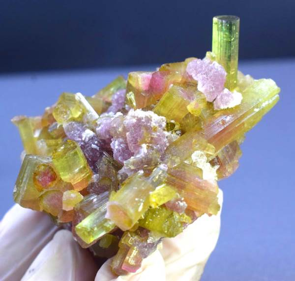 Watermelon Tourmaline Crystals with Lepidolite from Paprock Afghanistan - 80 Gram , 59*52 mm
