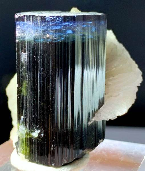 Blue Cap Tourmaline Crystal with Quartz , Albite and Mica from Paproke Afghanistan - 51 Gram , 36*34*35 mm
