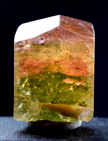 Natural Tourmaline, Tricolor Tourmaline Gem Grade Crystal - 24 gram , 29*20 mm