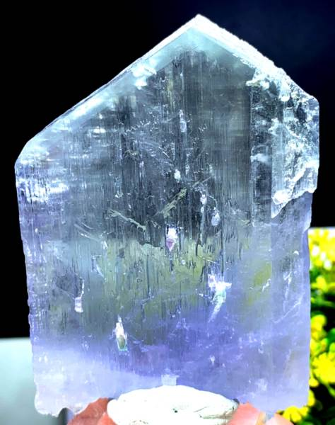 Kunzite Crystal , Purple Pink Kunzite , Natural Kunzite Terminated and Damage Free Crystal - 191 Gram , 83*60 mm