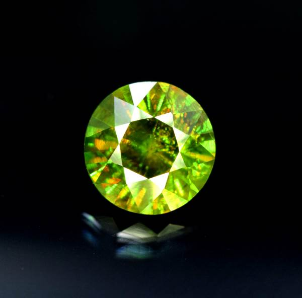 Natural Chrome Sphene Cut Gemstone from Skardu - 1.85 cts , 07*07*05 mm