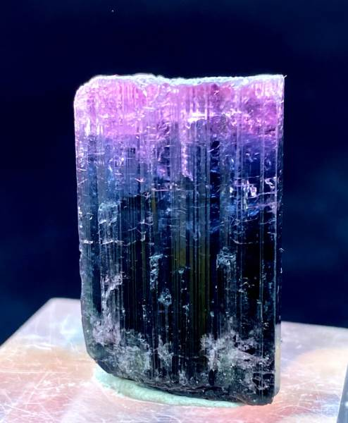 Pink Blue Bicolor Tourmaline Crystal from Paprock Afghanistan - 59.65cts , 26*16 mm