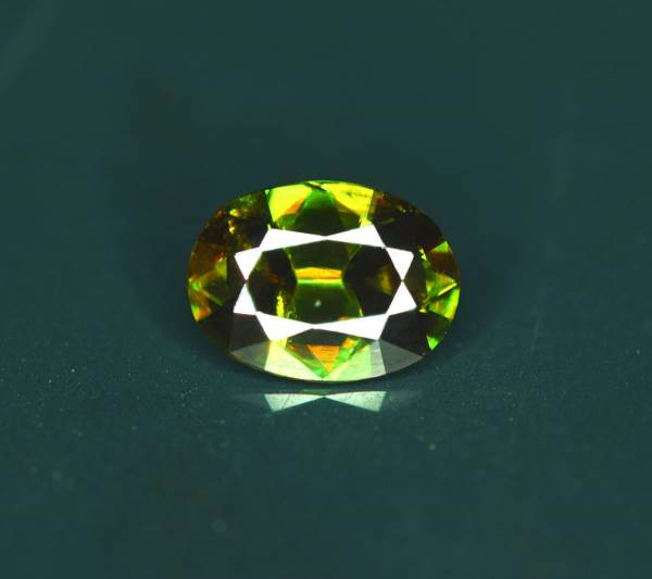 Natural Chrome Sphene Gemstone - 2.10 cts , 10*07*05 mm